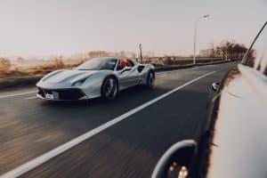 ferrari passing on highway